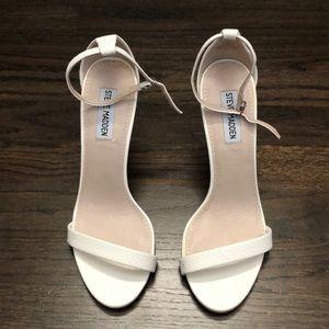 Steve Madden leather snakeskin strapy heels size 9
